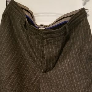 Pinstriped Wool Pants